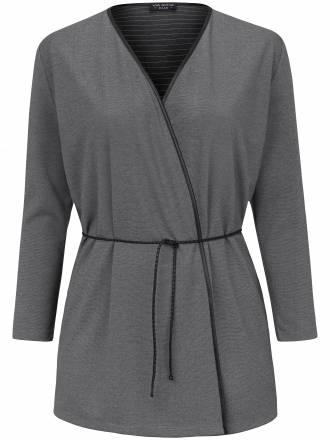 Jacke in locker fallender und verschlußloser Form Via Appia Due grau