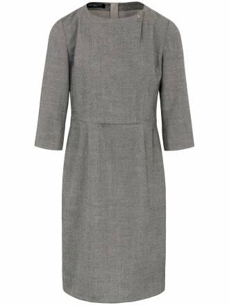 Kleid raffinierter Ausschnittverarbeitung Fadenmeister Berlin grau