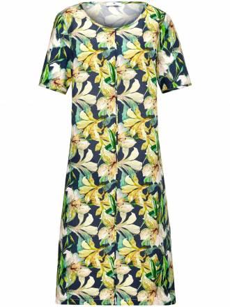 Kleid 1/2-Arm aus 100% Leinen Anna Aura mehrfarbig