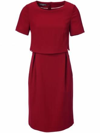Kleid 1/2-Arm aus 100% Schurwolle Fadenmeister Berlin rot
