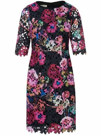 Etui-Kleid Blüten-Spitze im vielfarbigem Druck Uta Raasch mehrfarbig