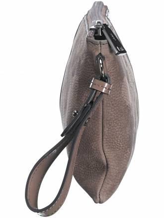 Extravagante Clutch aus weichem Nubukleder Joop! Taschen braun