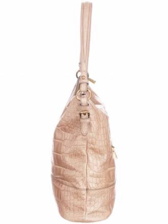 Shopper aus Rindsleder Kroko-Prägung Joop! Taschen beige