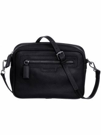 Tasche aus hochwertigem softem Nappaleder Fadenmeister Berlin schwarz