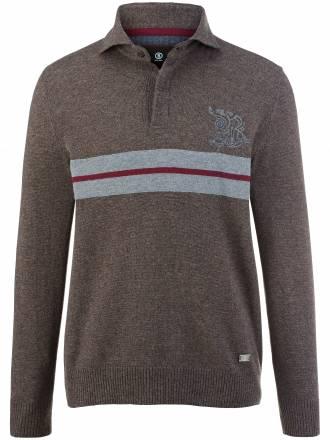 Polo-Pullover im Sweat-Style Bogner braun Größe: 54