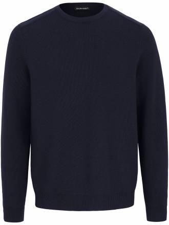 Pullover dekorativem Strickbesatz Louis Sayn blau