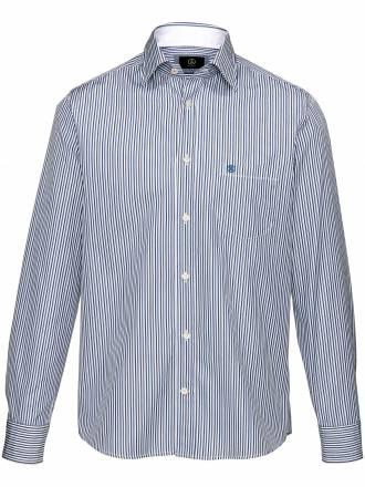 Streifen-Hemd Bogner blau Größe: 38