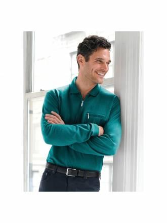"Polo-Shirt 1/1 Arm und ""Stay fresh´´ HAJO grün"