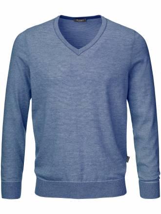 V-Pullover MAERZ blau