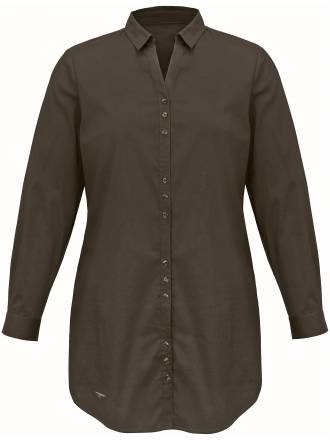 Long-Bluse in knitterarmer Strech-Qualität Emilia Lay grün