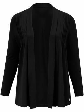 Shirtjacke in lässiger, verschlussloser Form Anna Aura schwarz
