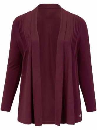 Shirtjacke in lässiger, verschlussloser Form Anna Aura rot