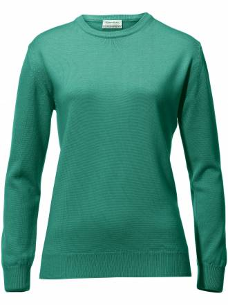 Rundhals-Pullover – Modell Gisela Peter Hahn grün