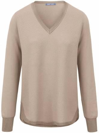 Pullover V-Ausschnitt und Struktur DAY.LIKE beige