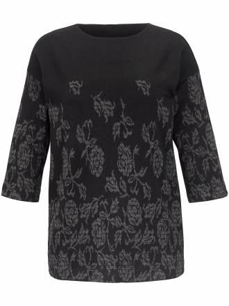 Pullover gekonnt verlaufendem Blumen-Muster Emilia Lay schwarz