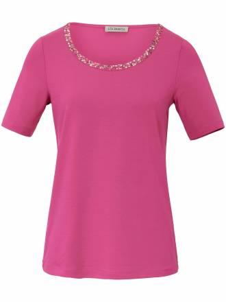 Shirt applizierten Pailletten am Ausschnitt Uta Raasch pink