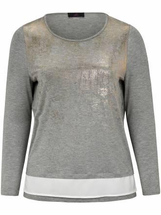Shirt in trendigem Look und in edler Anmutung Emilia Lay grau