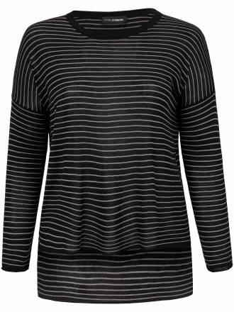 Pullover in sehr legere Form Doris Streich schwarz