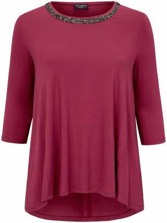 Shirt in legerer Form funkelnder Applikation Via Appia Due pink