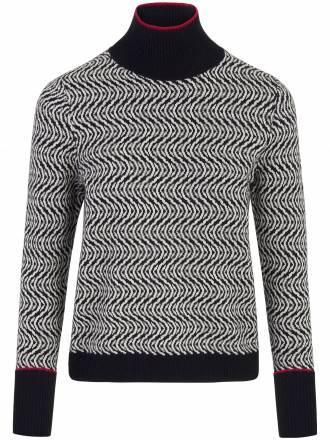 Pullover überlangem Ärmel zum umschlagen Strenesse mehrfarbig