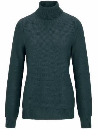 Rollkragen-Pullover Peter Hahn grün