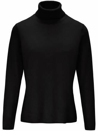Pullover in leicht taillierter Form include schwarz