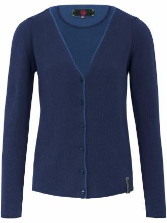 Cardigan aus 100% feiner Merino-Wolle LIEBLINGSSTÜCK blau