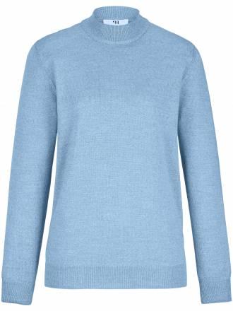 Stehbund-Pullover – Modell Gudrun Peter Hahn blau