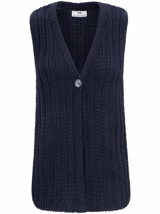 Strickweste aus 100% Baumwolle Peter Hahn blau