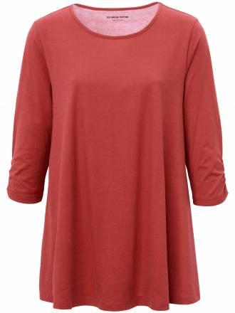 Long-Shirt 3/4-Arm Green Cotton rot