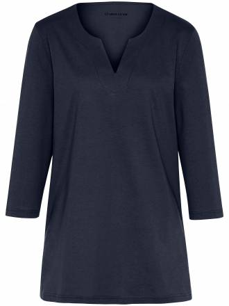 Shirt 3/4-Arm Green Cotton blau