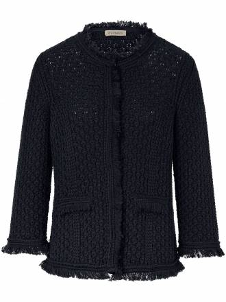 Strickjacke in kürzerer Form Uta Raasch blau