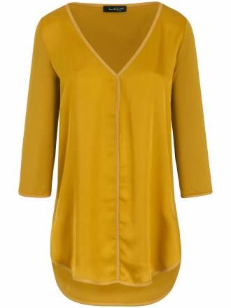 Schlupf-Bluse im Material-Mix Looxent gelb