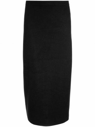 Strickrock aus reiner Schurwolle Anna Aura schwarz