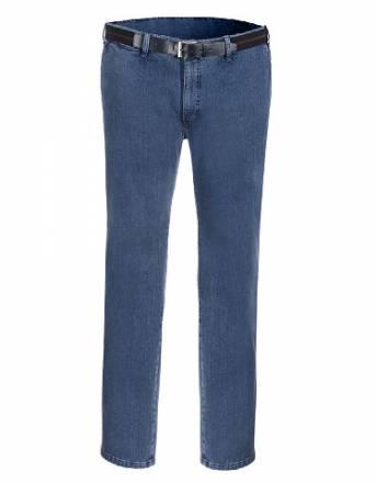 Pionier, Flatfront-Hose mit Gürtel, Blau, Größe 34 K