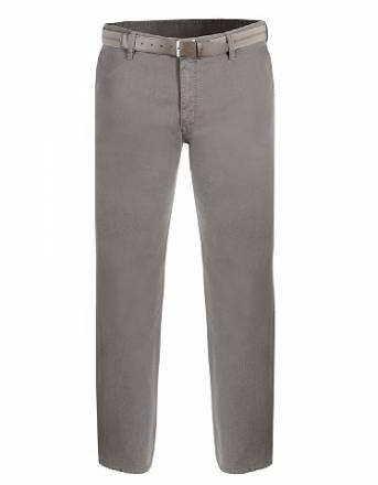 Pionier, Flatfront-Hose mit Gürtel, Khaki, Größe 35 K