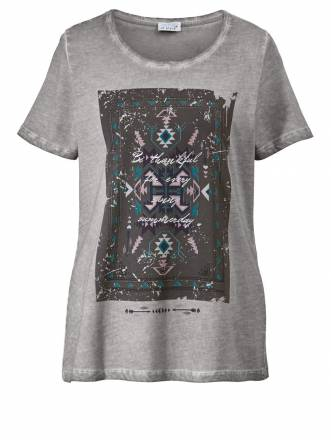 Shirt oil wash Angel of Style grau oil wash