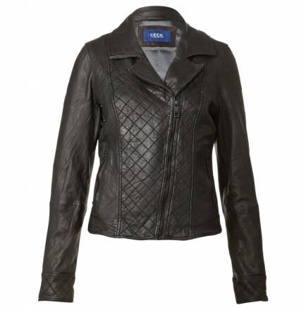 Lederjacke im Biker-Look – black