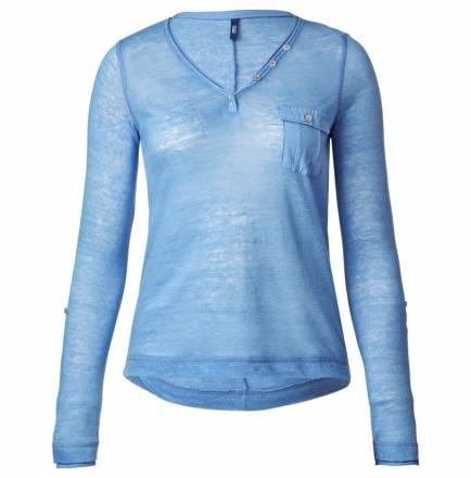 Leinenmix-Shirt – azure