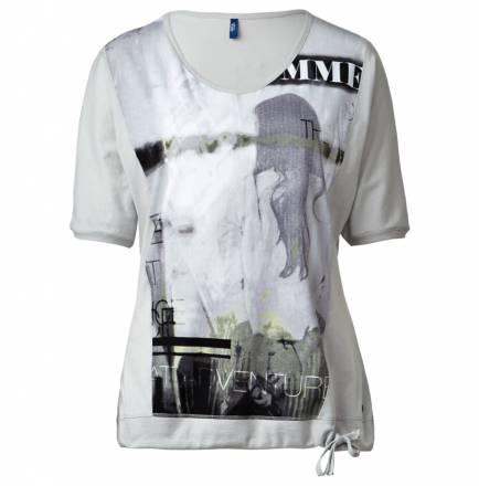 Fledermaus-Printshirt – mercury