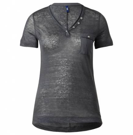 Sportives Leinenshirt – Raven Grey