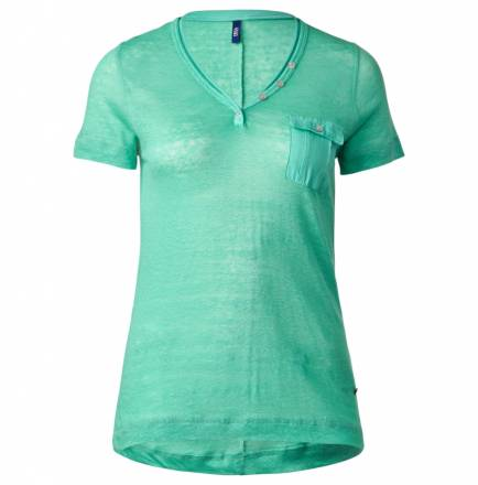 Sportives Leinenshirt – electric green