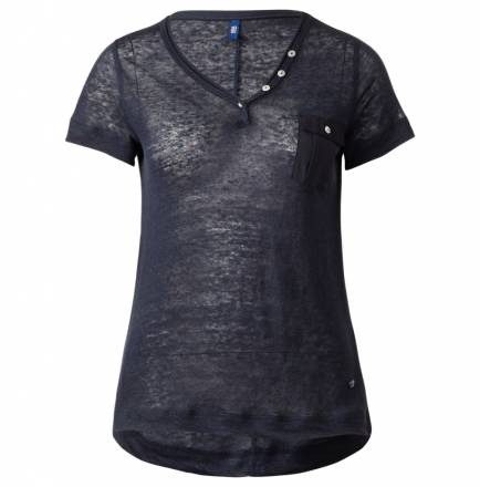 Sportives Leinenshirt – deep blue