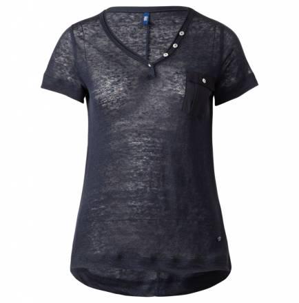 Sportives Leinenshirt – deep blue