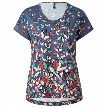 Schmetterlings-Shirt – denim blue
