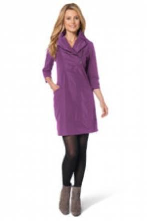 Gina Laura Kleid mit Schalkragen und schimmerndem Gewebe-Einsatz