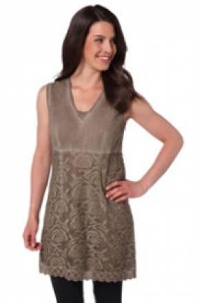 Gina Laura Blusenkleid mit feiner unterlegter Spitze