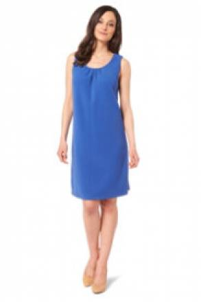 Gina Laura Pikee-Kleid, eingearbeitete Falten am Ausschnitt