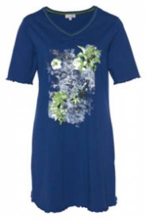 Gina Laura Nachthemd mit schönem Blütenmotiv, leicht fließender Stoff