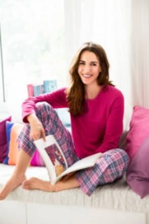 Gina Laura Schlafanzug, Oberteil mit Stretch-Komfort